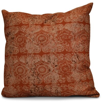 Soluri Patina Geometric Outdoor Throw Pillow Color: Orange / Rust, Size: 18 H x 18 W x 2 D