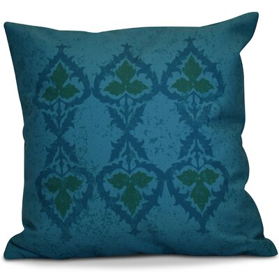 Soluri Geometric Throw Pillow Color: Blue, Size: 18