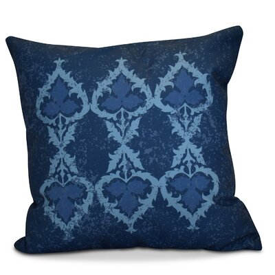 Soluri Geometric Throw Pillow Size: 16 H x 16 W x 2 D, Color: Navy Blue