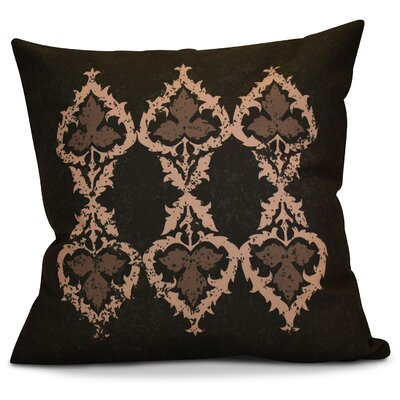 Soluri Geometric Throw Pillow Size: 18 H x 18 W x 2 D, Color: Brown