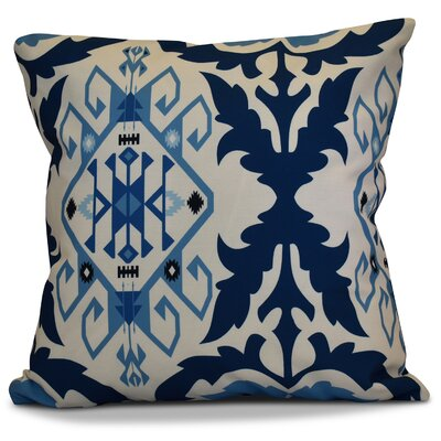Soluri 6 Geometric Throw Pillow Size: 16 H x 16 W x 2 D, Color: Navy Blue