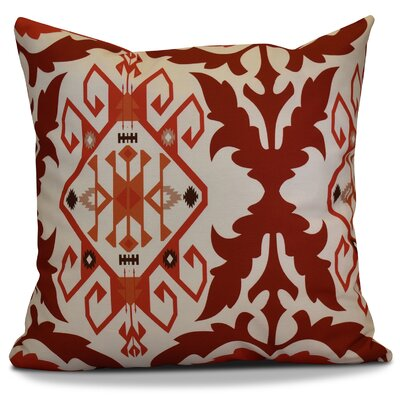 Soluri 6 Geometric Throw Pillow Size: 18 H x 18 W x 2 D, Color: Orange / Rust