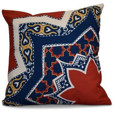 Soluri Rising Star Geometric Euro Pillow Color: Red