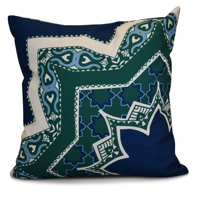 Soluri Rising Star Geometric Euro Pillow Color: Navy Blue