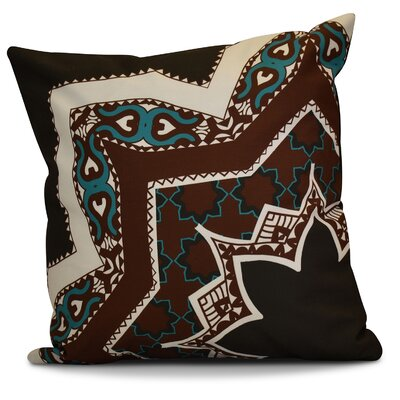 Soluri Rising Star Geometric Euro Pillow Color: Brown