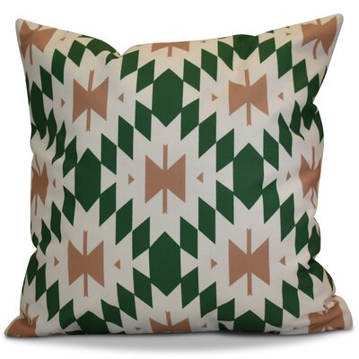 Soluri Geometric Throw Pillow Color: Teal, Size: 18 H x 18 W x 2 D