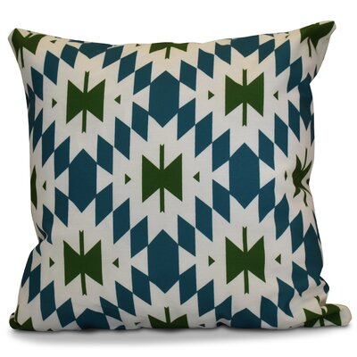 Soluri Geometric Throw Pillow Size: 20 H x 20 W x 2 D, Color: Green