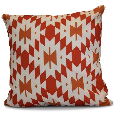 Soluri Geometric Throw Pillow Size: 18 H x 18 W x 2 D, Color: Orange