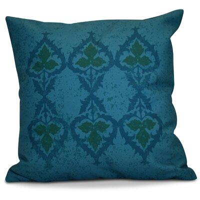 Soluri Geometric Euro Pillow Color: Blue