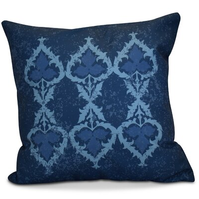 Soluri Geometric Euro Pillow Color: Navy Blue