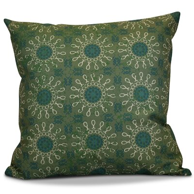 Soluri Sun Tile Geometric Euro Pillow Color: Green