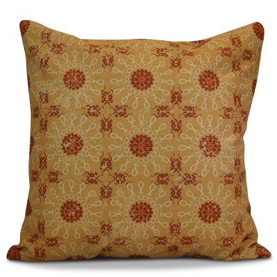 Clarence Geometric Euro Pillow Color: Gold
