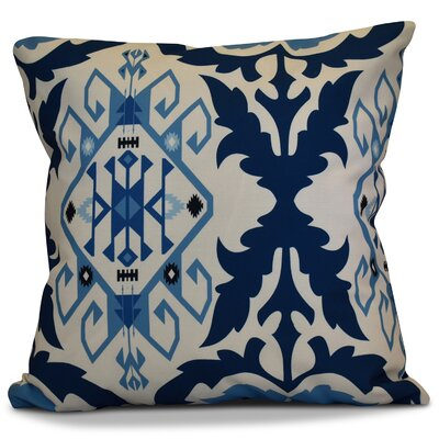 Soluri 6 Geometric Outdoor Throw Pillow Color: Navy Blue, Size: 18 H x 18 W x 2 D