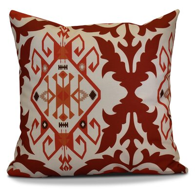 Soluri 6 Geometric Outdoor Throw Pillow Size: 18 H x 18 W x 2 D, Color: Orange / Rust