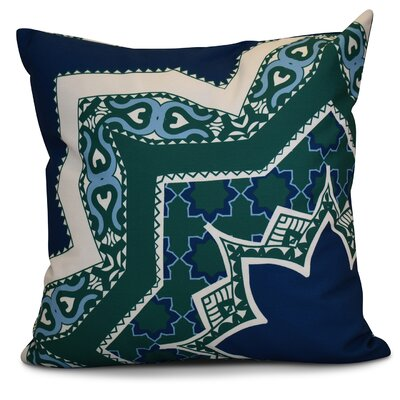 Soluri Rising Star Geometric Outdoor Throw Pillow Color: Navy Blue, Size: 20 H x 20 W x 2 D