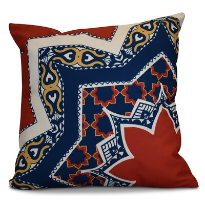 Soluri Rising Star Geometric Outdoor Throw Pillow Size: 16