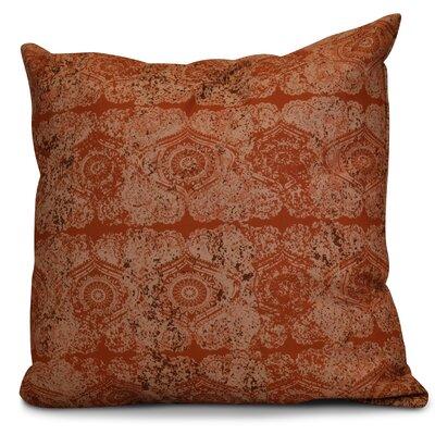 Soluri Patina Geometric Throw Pillow Size: 20 H x 20 W x 2 D, Color: Orange / Rust
