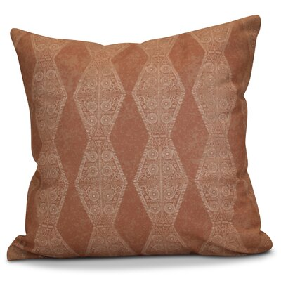 Soluri Pyramid Striped Geometric Throw Pillow Size: 18 H x 18 W x 2 D, Color: Orange