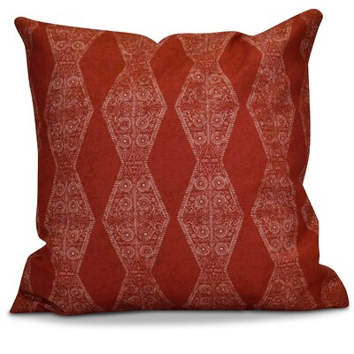 Soluri Pyramid Striped Geometric Throw Pillow Color: Red, Size: 18