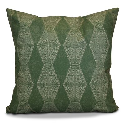 Soluri Pyramid Striped Geometric Throw Pillow Size: 18 H x 18 W x 2 D, Color: Green