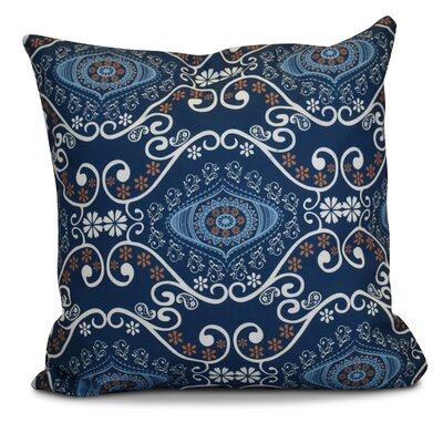 Soluri Illuminate Geometric Throw Pillow Size: 20 H x 20 W x 2 D, Color: Navy Blue
