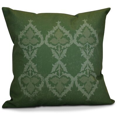 Soluri Geometric Outdoor Throw Pillow Color: Green, Size: 18 H x 18 W x 2 D