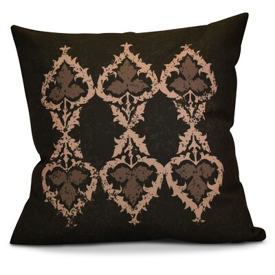 Soluri Geometric Outdoor Throw Pillow Size: 18 H x 18 W x 2 D, Color: Brown