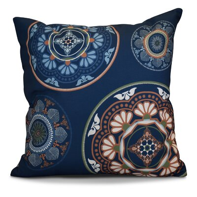 Soluri Medallions Geometric Euro Pillow Color: Blue