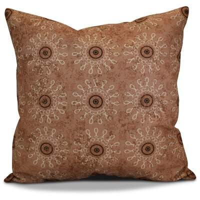 Soluri Sun Tile Geometric Throw Pillow Size: 18 H x 18 W x 2 D, Color: Taupe