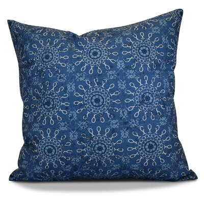 Soluri Sun Tile Geometric Outdoor Throw Pillow Color: Blue, Size: 18 H x 18 W x 2 D