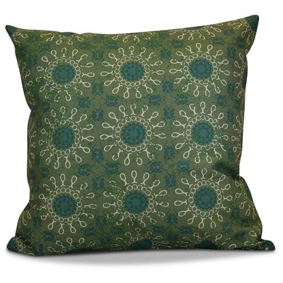 Clarence Geometric Outdoor Throw Pillow Size: 16 H x 16 W x 2 D, Color: Green