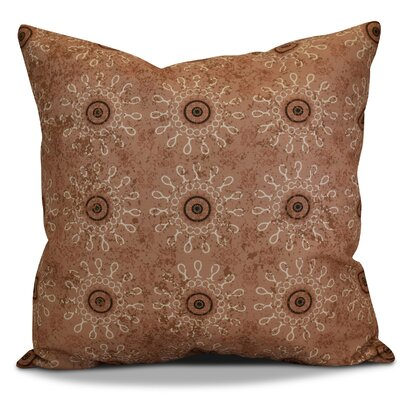 Soluri Sun Tile Geometric Outdoor Throw Pillow Size: 20 H x 20 W x 2 D, Color: Taupe