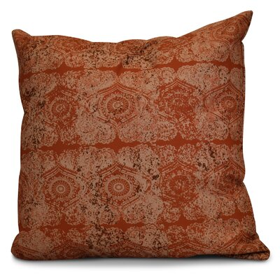 Soluri Patina Geometric Euro Pillow Color: Orange / Rust