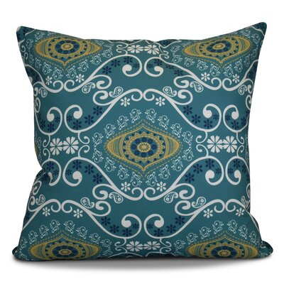 Soluri Illuminate Geometric Outdoor Throw Pillow Color: Blue, Size: 18