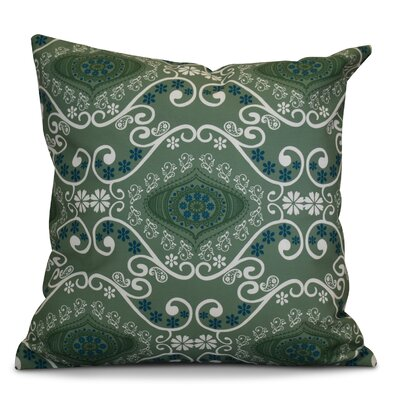 Soluri Illuminate Geometric Outdoor Throw Pillow Size: 16 H x 16 W x 2 D, Color: Green