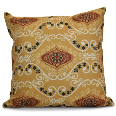 Soluri Illuminate Geometric Outdoor Throw Pillow Size: 18 H x 18 W x 2 D, Color: Gold