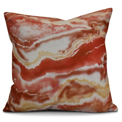Soluri Remolina Geometric Euro Pillow Color: Orange