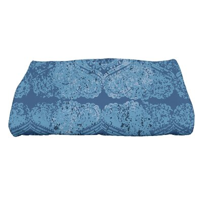 Soluri Patina Geometric Print Bath Towel Color: Blue
