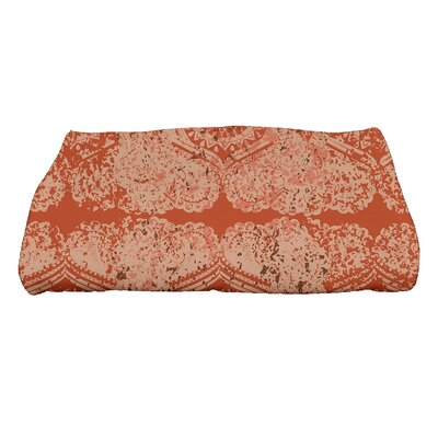 Soluri Patina Geometric Print Bath Towel Color: Orange/Rust