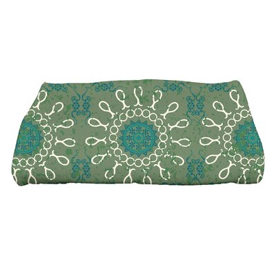 Soluri Sun Tile Geometric Print Bath Towel Color: Green