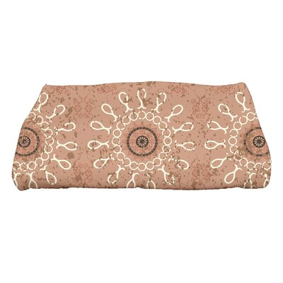 Soluri Sun Tile Geometric Print Bath Towel Color: Taupe