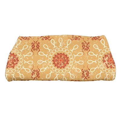 Soluri Sun Tile Geometric Print Bath Towel Color: Gold