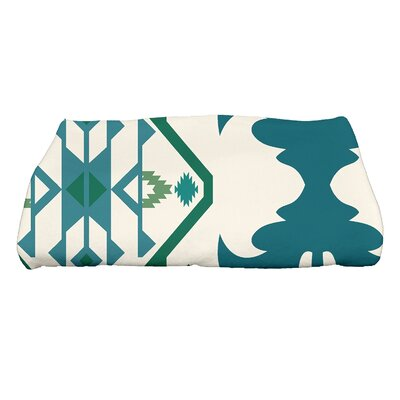 Soluri 6 Geometric Print Bath Towel Color: Teal