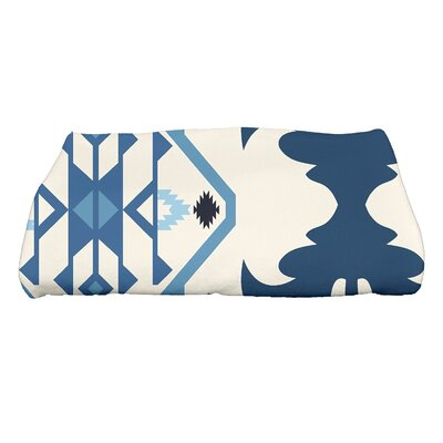 Soluri 6 Geometric Print Bath Towel Color: Navy Blue