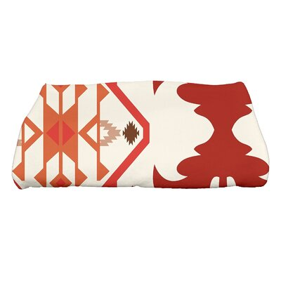 Soluri 6 Geometric Print Bath Towel Color: Orange/Rust