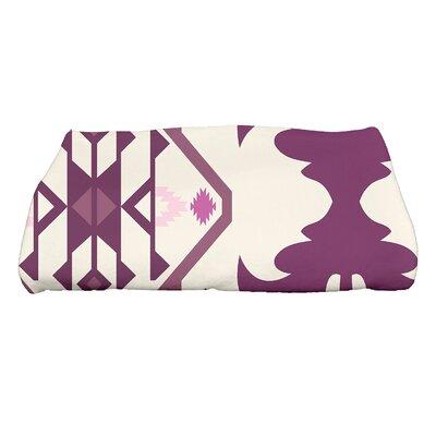 Soluri 6 Geometric Print Bath Towel Color: Purple