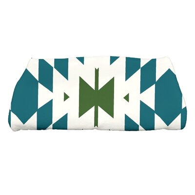 Soluri Geometric Print Bath Towel Color: Teal