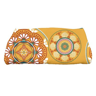 Soluri Medallions Floral Print Bath Towel Color: Gold