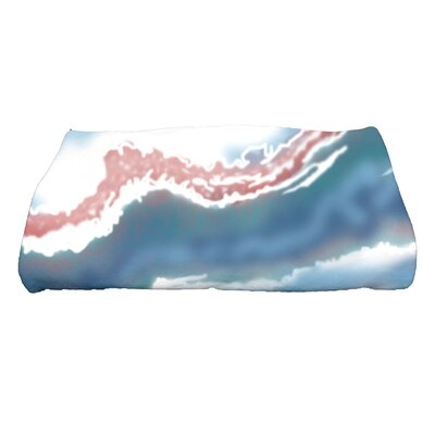 Soluri Remolina Abstract Print Bath Towel Color: Blue