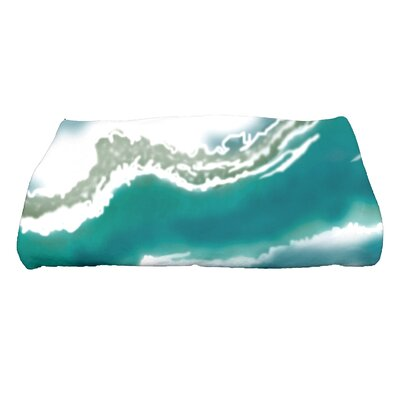 Soluri Remolina Abstract Print Bath Towel Color: Teal